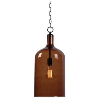 Design Craft Corsica 1-light Blackened Oil Rubbed Bronze Pendant