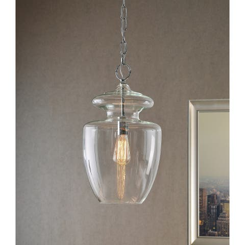 Baden 1-Light Clear Glass Pendant
