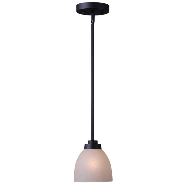 rouen 1 light black mini pendant free shipping today 15651771. Black Bedroom Furniture Sets. Home Design Ideas