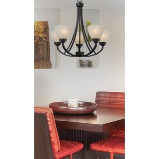 Rouen 5-light Black Chandelier