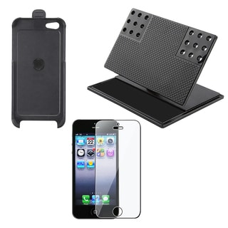 INSTEN Car Dashboard Holder/ Black Holster for Apple iPhone 5/ 5S/ SE