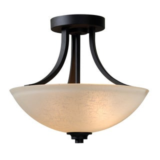 Rouen 2-light Burnished Bronze Semi Flush Mount