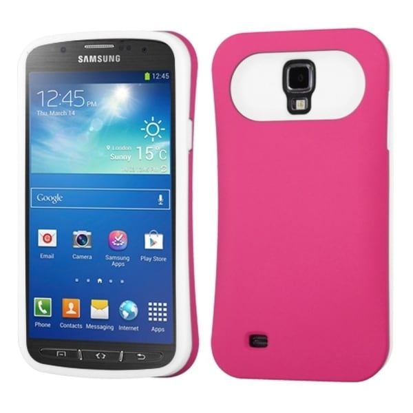 INSTEN Hot Pink/ White Phone Case Cover for Samsung i537 Galaxy S4 Active