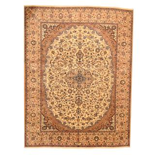 Herat Oriental Persian Hand-knotted Mashad Wool Rug (9'7 x 12'9)