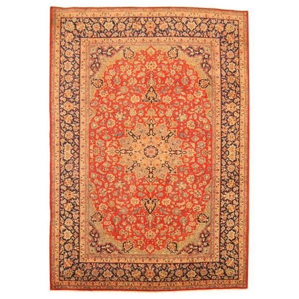 Handmade Herat Oriental Persian Isfahan Wool Rug - 9'7 x 13'4 (Iran)