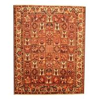 Herat Oriental Persian Hand-knotted Bakhtiari Wool Rug (9'10 x 12'2) - 9'10 x 12'2