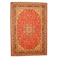 Herat Oriental Persian Hand-knotted Isfahan Wool Rug (9'8 x 14'2) - 9'8 x 14'2