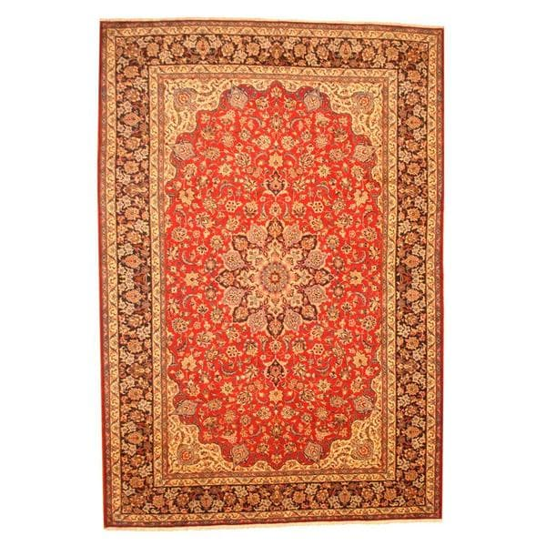 Herat Oriental Persian Hand-knotted Isfahan Wool Rug - 9'8 x 14'2