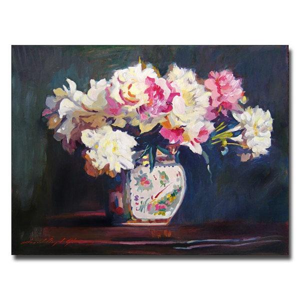 David Lloyd Glover 'Elizabeth's Peonies' Canvas Art - Multi