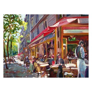David Lloyd Glover 'Paris Cafe' Canvas Art