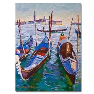 David Lloyd Glover 'Venice Gondolas' Canvas Art