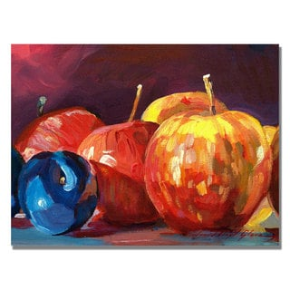 David Lloyd Glover 'Ripe Plums and Apples' Canvas Art