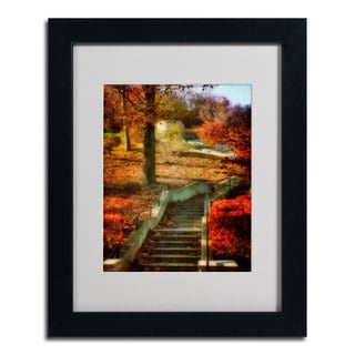 Lois Bryan 'Autumn Stairway' Framed Matted Art