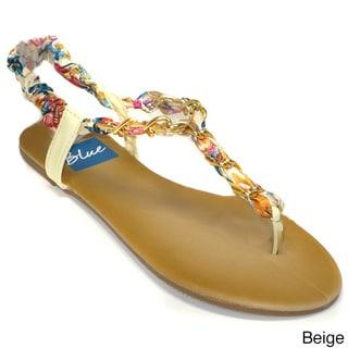 Blue Women's T-chain Sandal