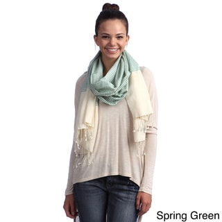 Handmade Natural Silk Striped Wrap