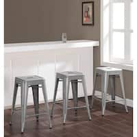 Tabouret 24-inch Metal Counter Stools (Set of 3)