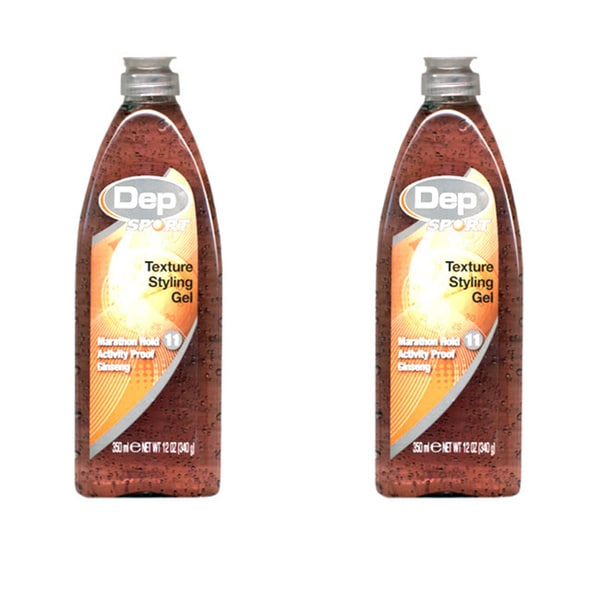 Dep All Conditions Hold Texture 12-ounce Styling Gel #9 (Pack of 2)