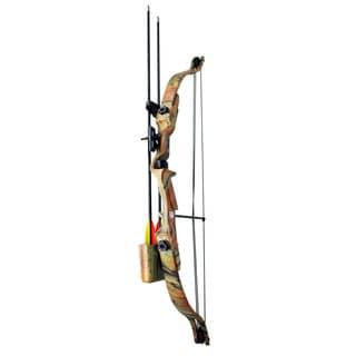 Wizard Archery 20-pound 22-inch Autumn Camo Youth Compound Bow Set