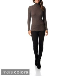 Ply Cashmere Women's Long Sleeve Turtleneck Sweater