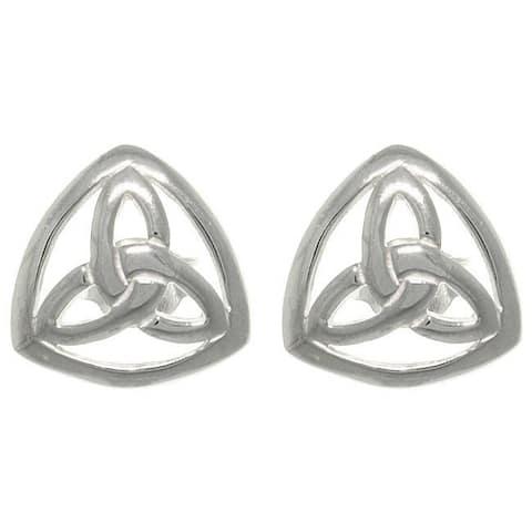 Silver Celtic Trinity Knot Stud Earrings