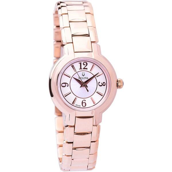 Bulova Women's 97L122 Rosetone Bracelet Dress Watch