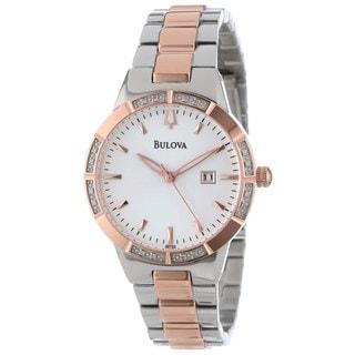 Bulova Women's Diamond-accented Two-tone Watch