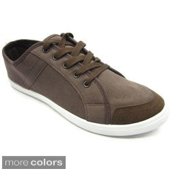 Blue Mens 'M-Felix' Canvas Low-top Sneakers