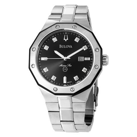 Bulova Men's 'Marine Star' Diamond-accented Watch