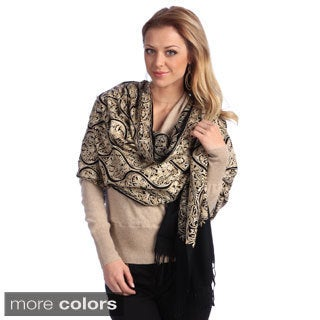 Women's Embroidered Wool Shawl