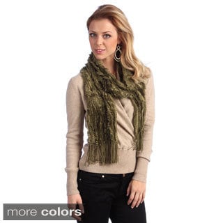 Women's Solid Faux Fur Scarf