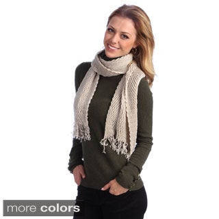 Women's Solid Crinkled Scarf