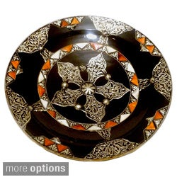 Decorative Ceramic Sahara Plate , Handmade in Morocco