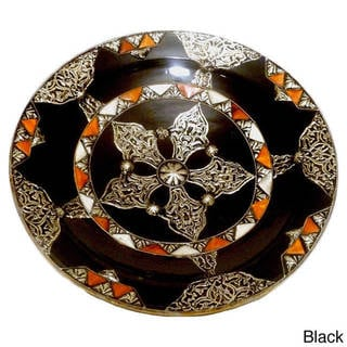 Handmade Decorative Ceramic Sahara Plate (Morocco)