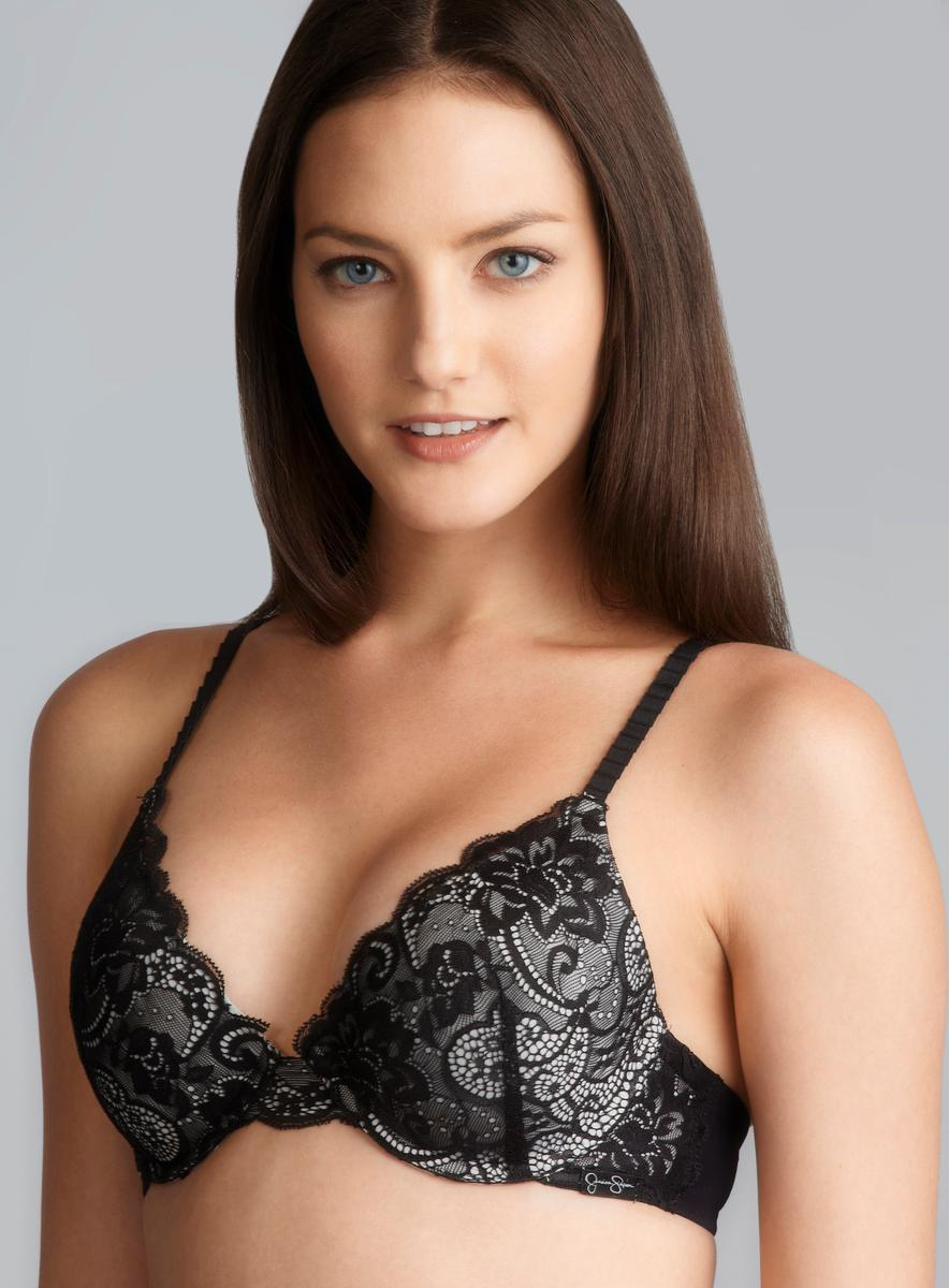 Jessica Simpson Full Coverage Padded Lace Bra Free