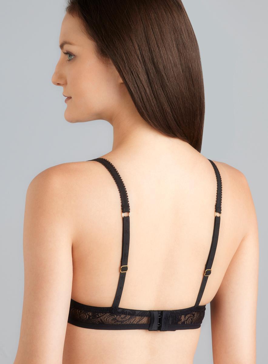 Jessica Simpson Hook It Up Black T-Shirt Bra