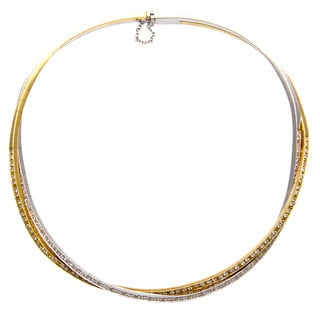 Pre-owned Stefan Hafner 18k Gold 3ct TDW Diamond Estate Choker (F-G, VS1-VS2)