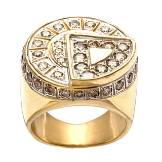 Pre-owned 14k Yellow Gold 2 1/2ct TDW Diamond Geometric Estate Ring (L-M, SI1-SI2)