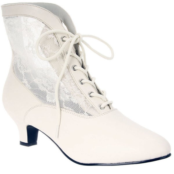 Funtasma Women's 'DAME-05' Heel Lace Victorian Ankle Boots