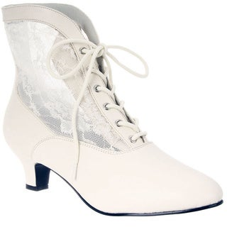 Funtasma Women's 'DAME-05' Heel Lace Victorian Ankle Boots (Option: 6)|https://ak1.ostkcdn.com/images/products/8342455/P15652936.jpg?_ostk_perf_=percv&impolicy=medium