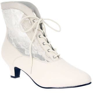 Funtasma Women's 'DAME-05' Heel Lace Victorian Ankle Boots (Option: Pink)|https://ak1.ostkcdn.com/images/products/8342455/P15652936.jpg?impolicy=medium
