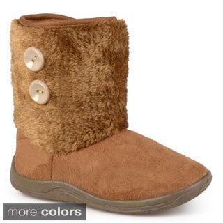 Journee Kid's 'Mosco' Faux Fur Cuff Boot