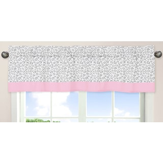 Sweet Jojo Designs Pink, Gray and White 54-inch x 15-inch Window Treatment Curtain Valance for Pink and Gray