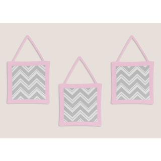 Sweet JoJo Designs Pink and Grey Wall Hangings