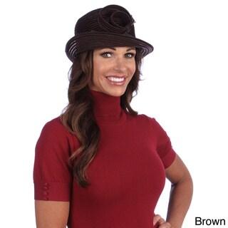 Swan Women's Velvet Ribbon Dressy Crusher Hat