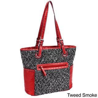 Parinda Melody Quilted Fabric with Croco Faux Leather Tote (2 options available)