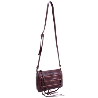 Parinda Minna Croco Embossed Faux Leather Crossbody Bag