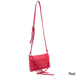 Parinda Minna Croco Embossed Faux Leather Crossbody Bag (3 options available)