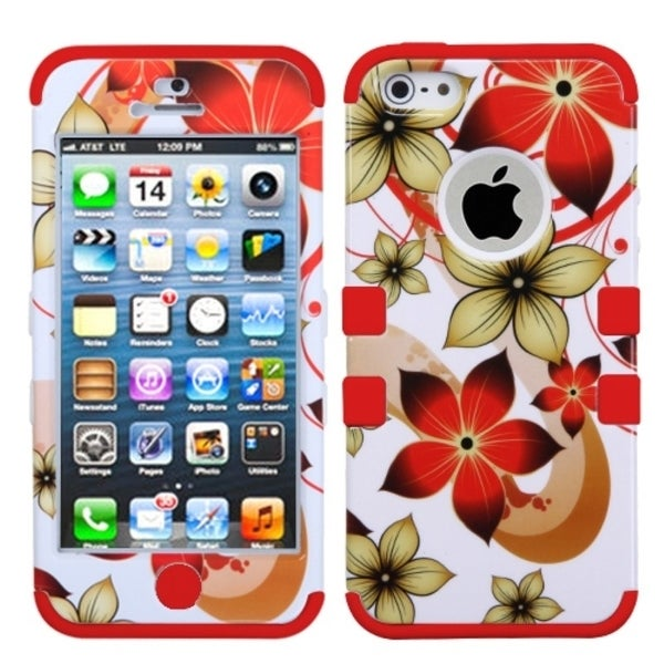 BasAcc Hibiscus Flower/ Red TUFF Hybrid Case for Apple® iPhone 5