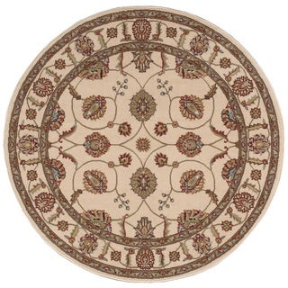 'Modesto' Ivory Round Rug (5'3 x 5'3)