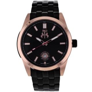 Jivago Men's 'Rush' Black Stainless Steel Watch